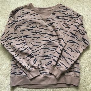Abercrombie & Fitch soft a&f tiger print pullover